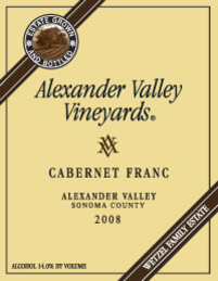 Alexander Valley Vineyard - Cabernet Franc