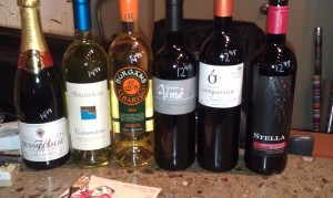 Wines for OBA Meeting